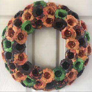 Paper Flower Fall Wreath - Handmade